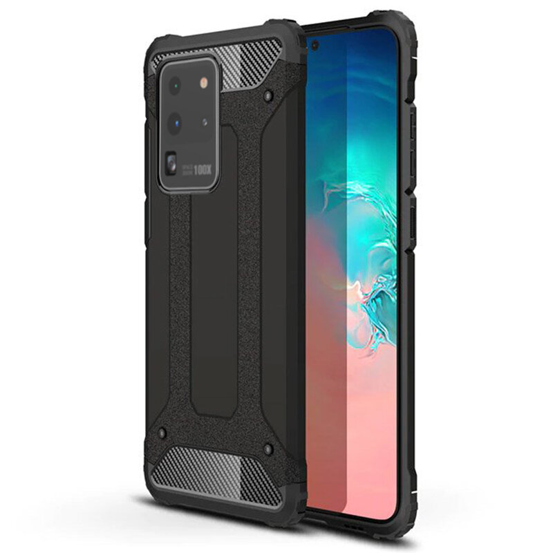 Husa Samsung Galaxy S20 Ultra 5G Hybrid Armor - Negru