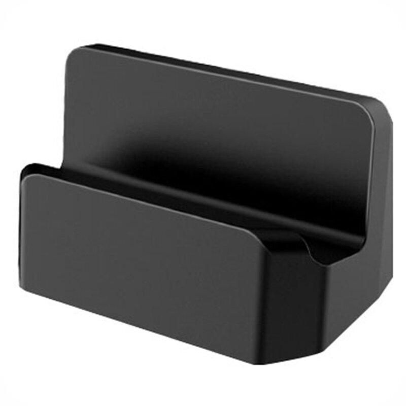 Suport telefon birou Mobster, stand incarcare Micro-USB, negru, MCD-10