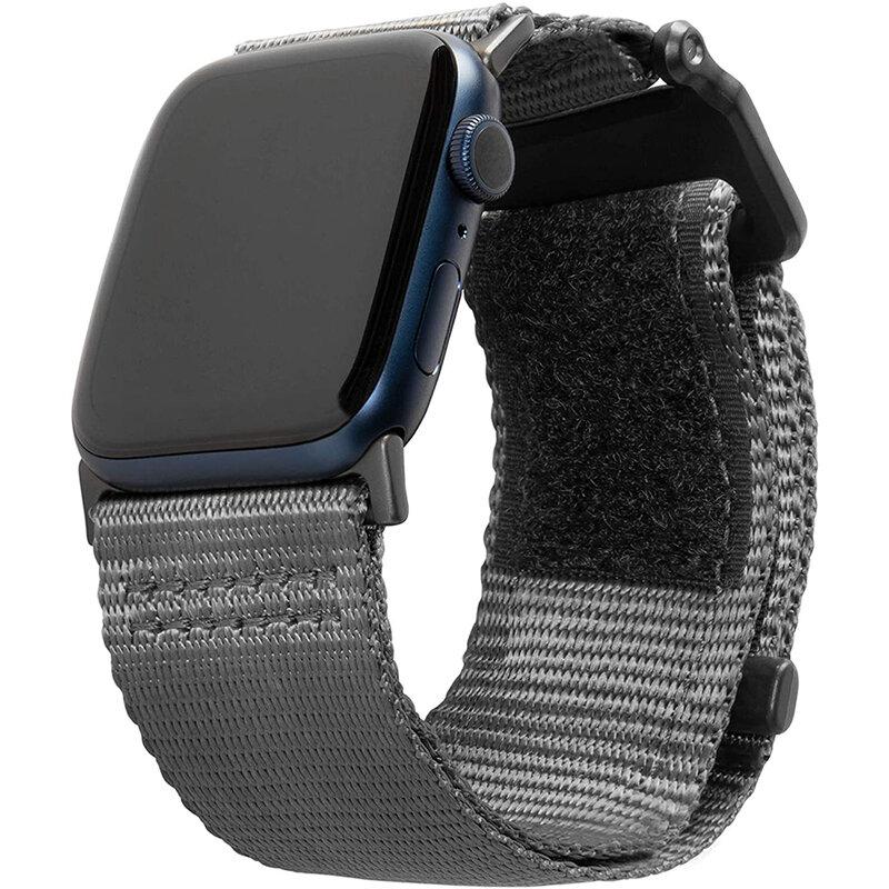 Curea Apple Watch 1 42mm UAG Active Straps LE, gri inchis