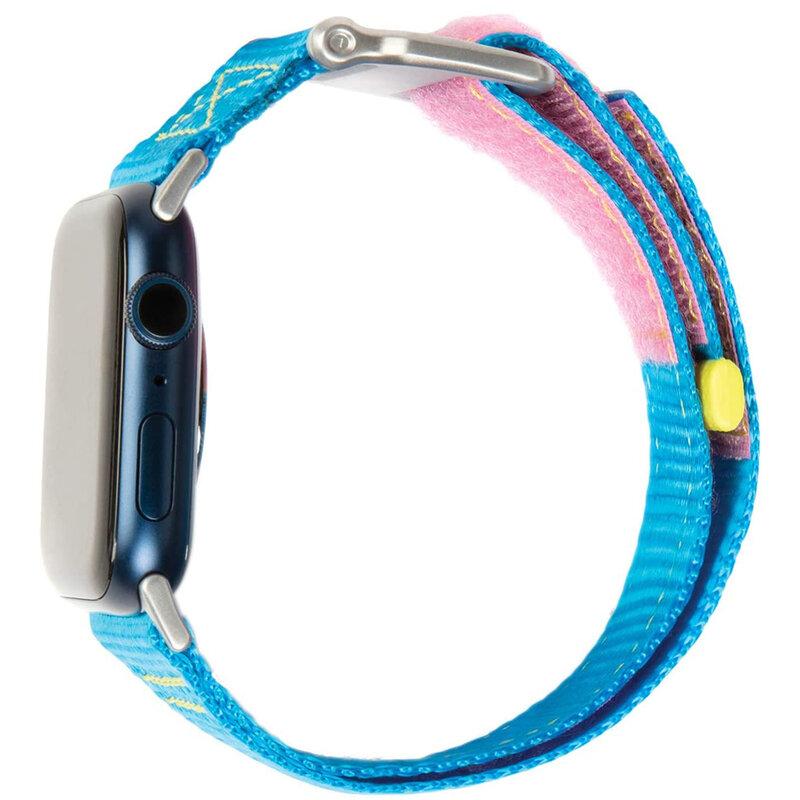 Curea Apple Watch 1 42mm UAG Active Straps LE, albastru-roz