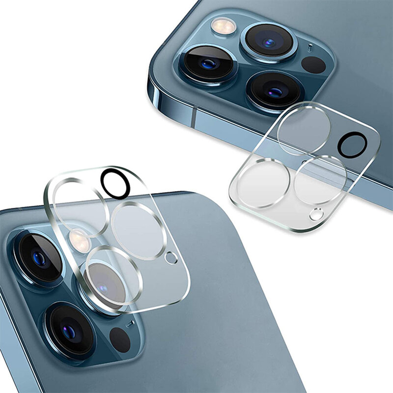Folie Sticla iPhone 12 Pro Max Bluestar Camera Lens Glass Full Cover - Clear