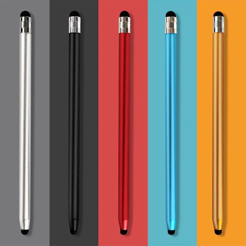 Stylus Pen Techsuit, 2in1 Universal, Android, iOS, Aluminiu, Rosu, JC01
