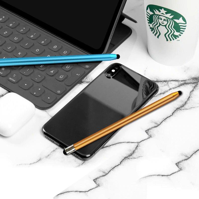 Stylus Pen Techsuit, 2in1 Universal, Android, iOS, Aluminiu, Albastru, JC01