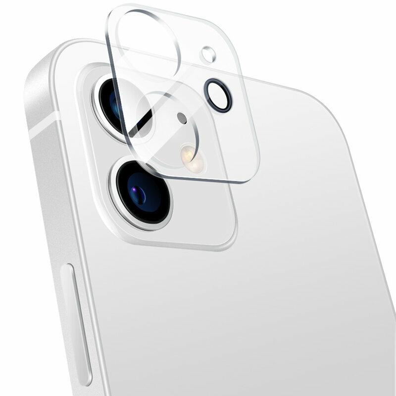 Folie Sticla iPhone 12 Bluestar Camera Lens Glass Full Cover - Clear