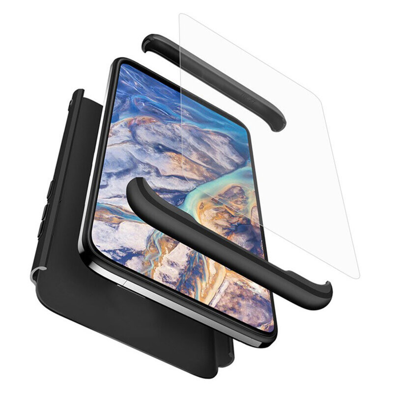 [Pachet 360°] Husa + Folie Samsung Galaxy S21 Ultra 5G GKK Original - Negru