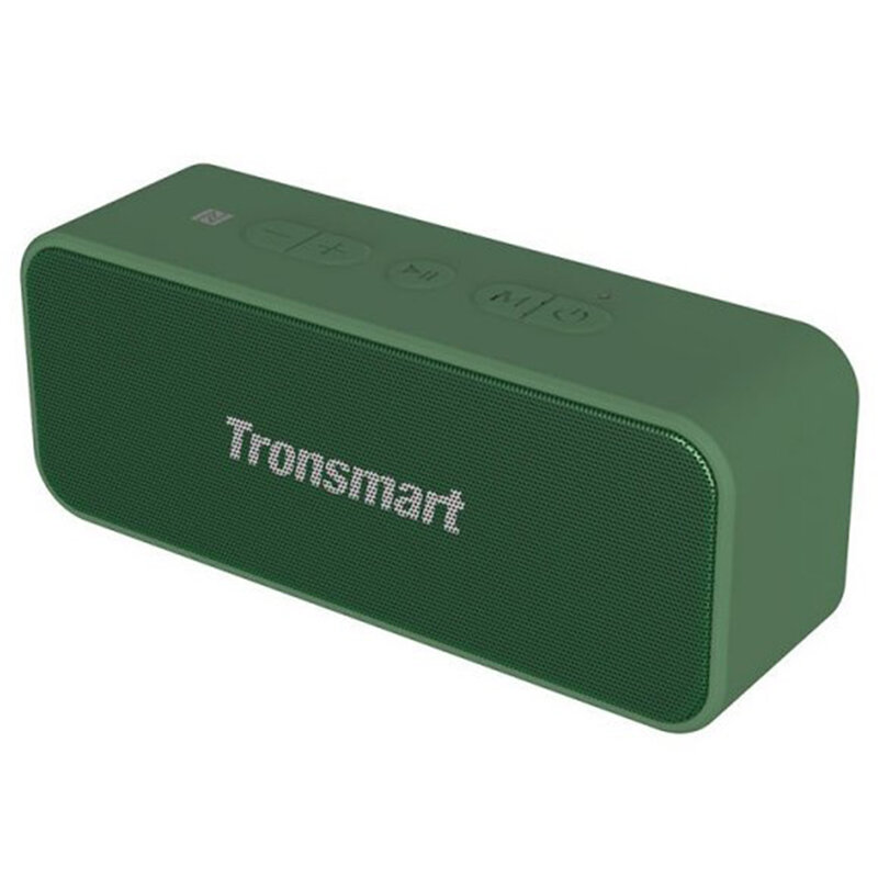 Boxa portabila Tronsmart T2 Plus, wireless, stereo, impermeabila, 20W, verde
