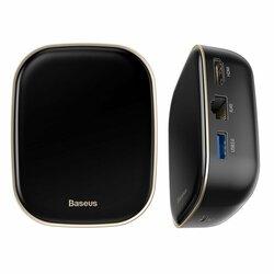 Hub USB Baseus, docking station Type-C, HDMI, SD, microSD, RJ45, negru, CAHUB-AU01