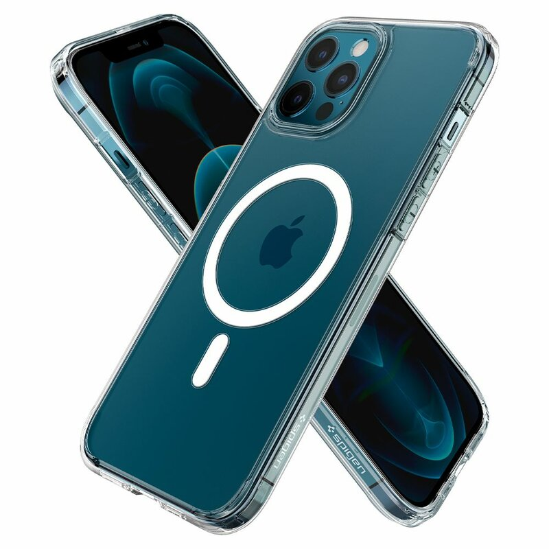 Husa iPhone 12 Pro Spigen Ultra Hybrid Mag, compatibila MagSafe - Alb