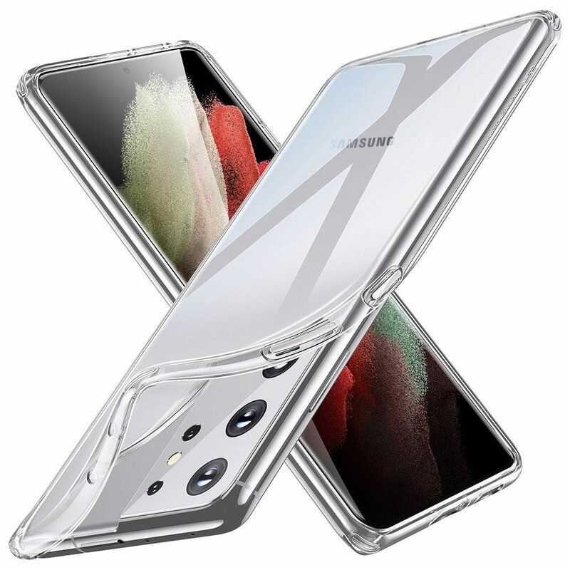 Husa Samsung Galaxy S21 Ultra 5G ESR Project Zero Din Poliuretan Transparent - Clear