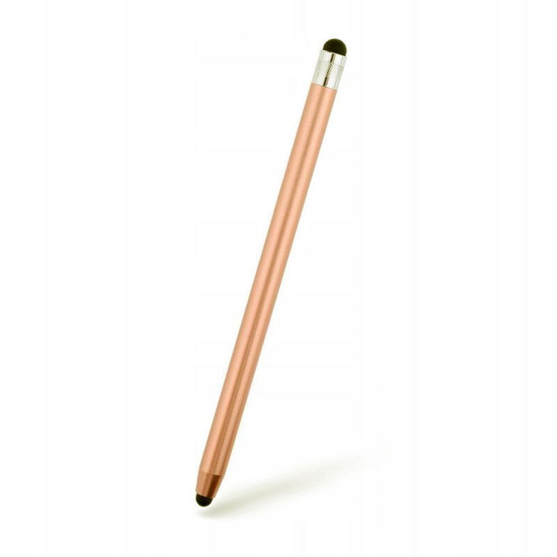 Stylus Pen Techsuit, 2in1 Universal, Android, iOS, Aluminiu, Auriu, JC01