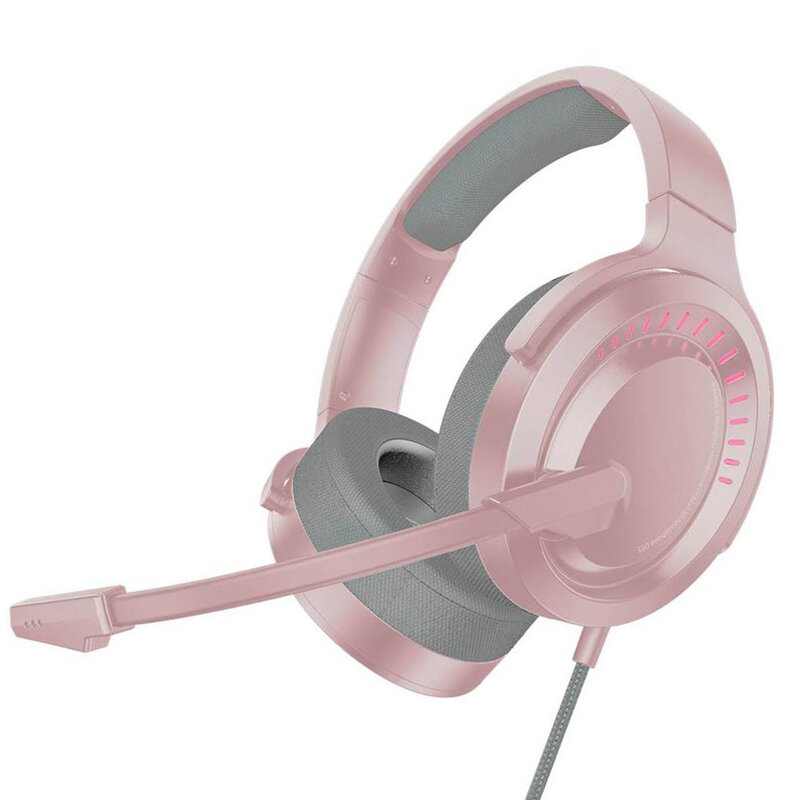 Casti gaming on-ear Baseus cu telecomanda si microfon, roz, NGD05-04