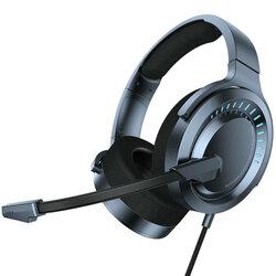 Casti gaming on-ear Baseus cu telecomanda si microfon, albastru, NGD05-03