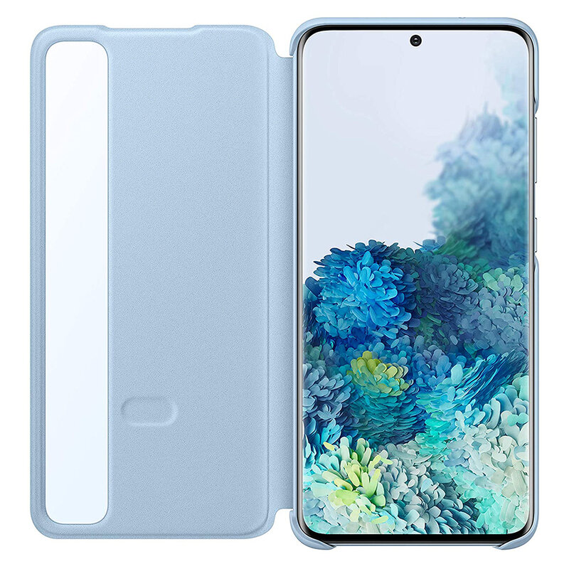Husa Originala Samsung Galaxy S20 5G Smart Clear View Cover - Bleu