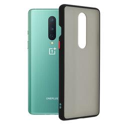 Husa OnePlus 8 Mobster Chroma Cu Butoane Si Margini Colorate - Negru