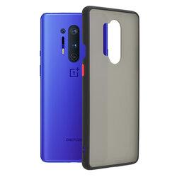 Husa OnePlus 8 Pro Mobster Chroma Cu Butoane Si Margini Colorate - Negru