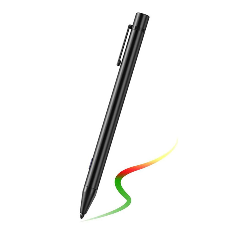 Stylus pen activ Techsuit C3 pentru tablete iPad, cablu Micro-USB, negru