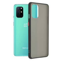 Husa OnePlus 8T Mobster Chroma Cu Butoane Si Margini Colorate - Negru