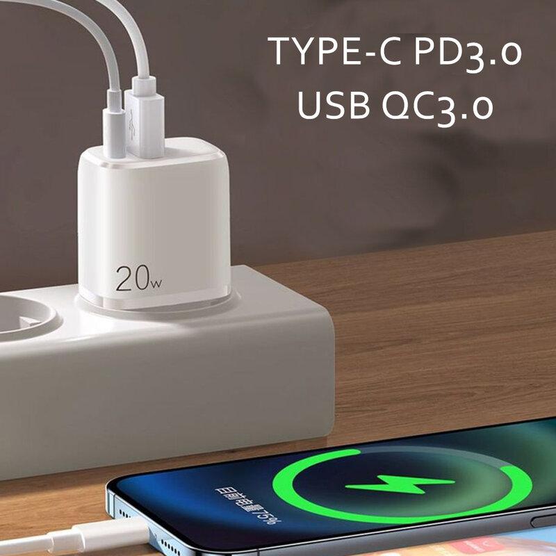 Incarcator priza JoyRoom, USB QC 3.0, Type-C PD 20W, alb, ZQ-LG3028E3