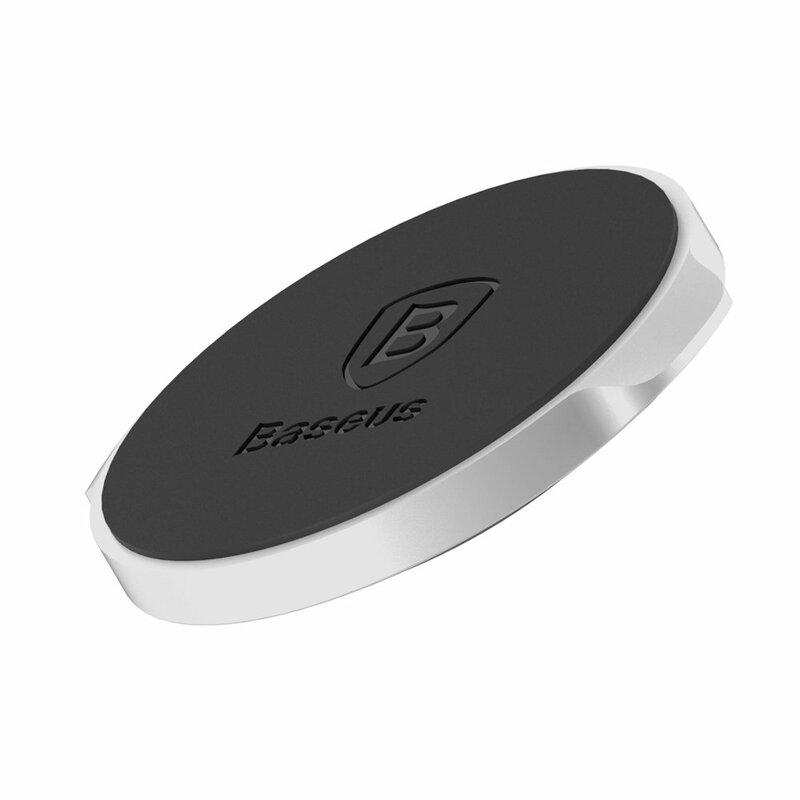 Suport telefon auto magnetic universal cu adeziv 3M Baseus, argintiu, SUER-C0S