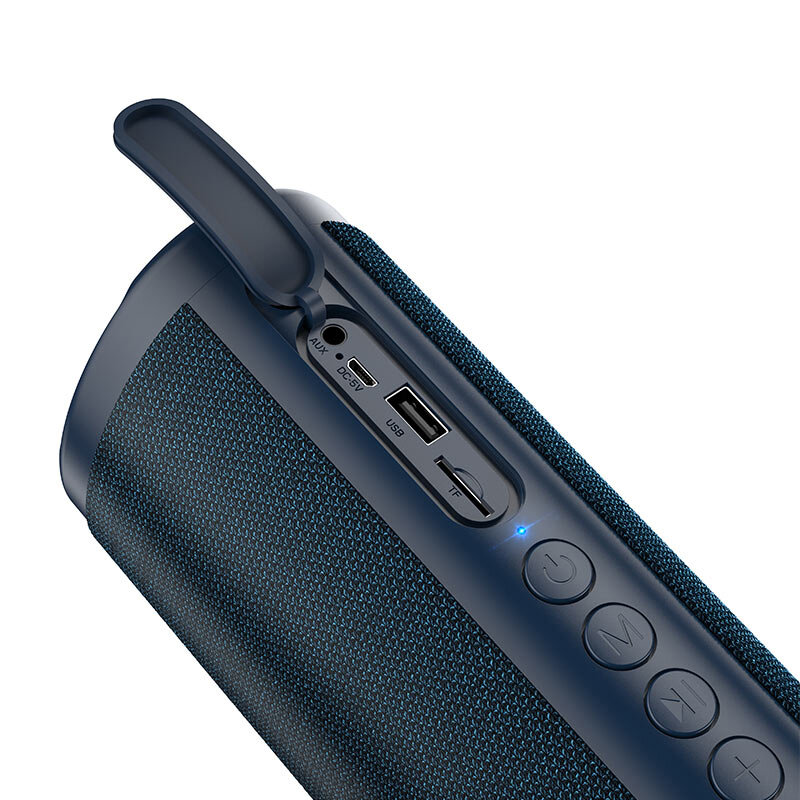 Boxa portabila Hoco HC4, WS, waterproof, Bluetooth, Micro-SD, USB, FM, albastru