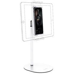 Suport telefon, tableta Birou Hoco PH31, stand universal reglabil, alb