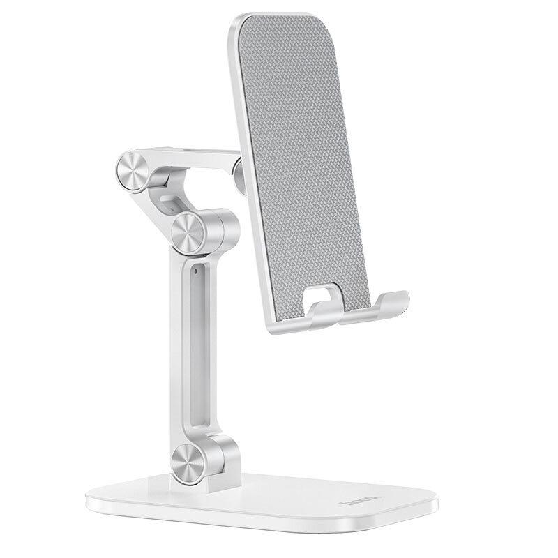 Suport telefon, tableta Birou Hoco PH34, stand universal pliabil, alb