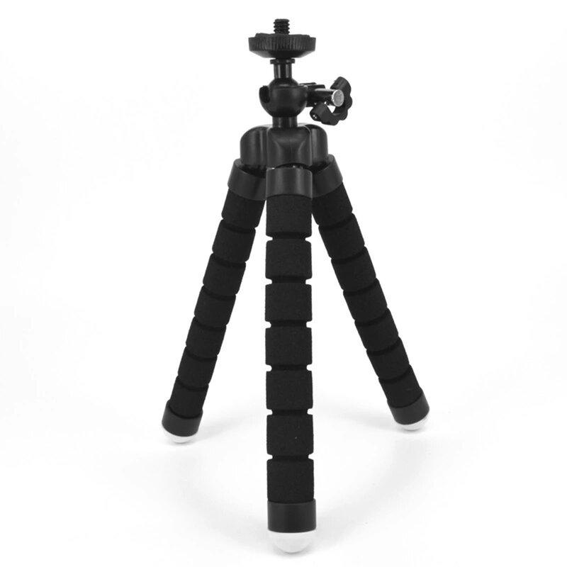 Mini trepied GoPro, DJI, DSLR, ajustabil 360°, negru