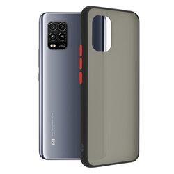 Husa Xiaomi Mi 10 Lite Mobster Chroma Cu Butoane Si Margini Colorate - Negru