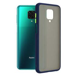Husa Xiaomi Redmi Note 9 Pro Mobster Chroma Cu Butoane Si Margini Colorate - Albastru