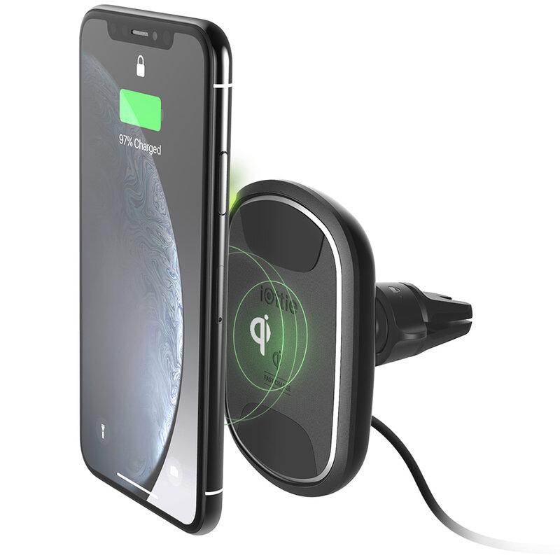 Suport telefon auto IOttie iTAP 2, incarcare wireless, negru