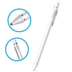 Stylus Pen USAMS Active Touch Screen Capacitive Universal With Clip - US-ZB057 - White
