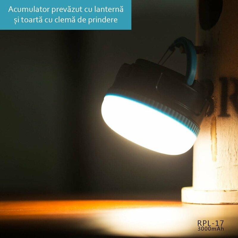 Acumulator extern 3000 mAh Remax RPL-17 - Albastru