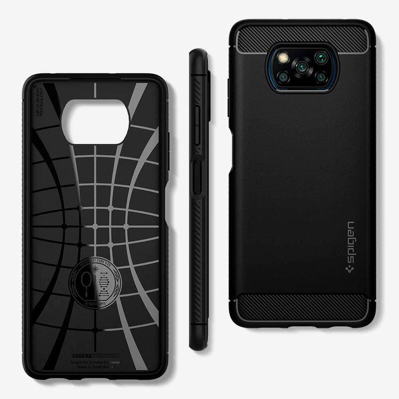 Husa Xiaomi Poco X3 Spigen Rugged Armor - Matte Black
