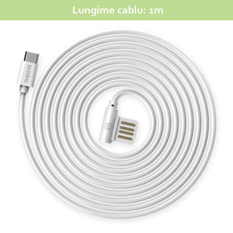 Cablu de date Type-C Remax Rayen - Alb