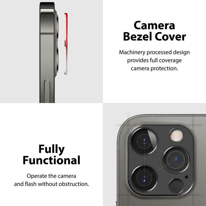 Folie Obiectiv iPhone 12 Pro Max Ringke Camera Styling Din Otel Inoxidabil - Gri