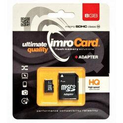 Card de memorie Imro Micro SDHC 8 GB Class 10 + Adaptor SD