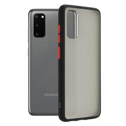 Husa Samsung Galaxy S20 5G Mobster Chroma Cu Butoane Si Margini Colorate - Negru