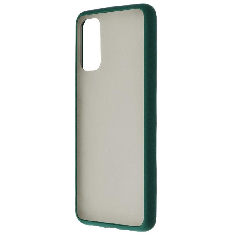 Husa Samsung Galaxy S20 5G Mobster Chroma Cu Butoane Si Margini Colorate - Verde Inchis