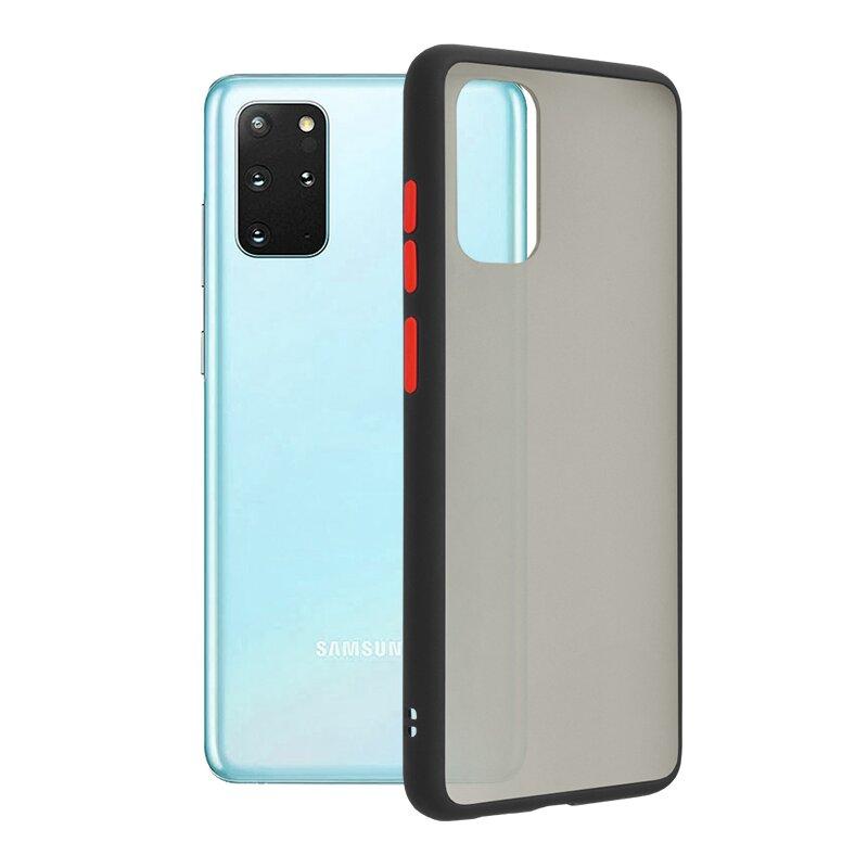 Husa Samsung Galaxy S20 Plus Mobster Chroma Cu Butoane Si Margini Colorate - Negru