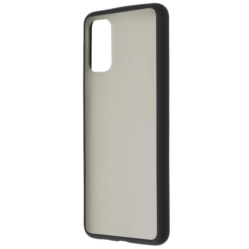 Husa Samsung Galaxy S20 Plus 5G Mobster Chroma Cu Butoane Si Margini Colorate - Negru