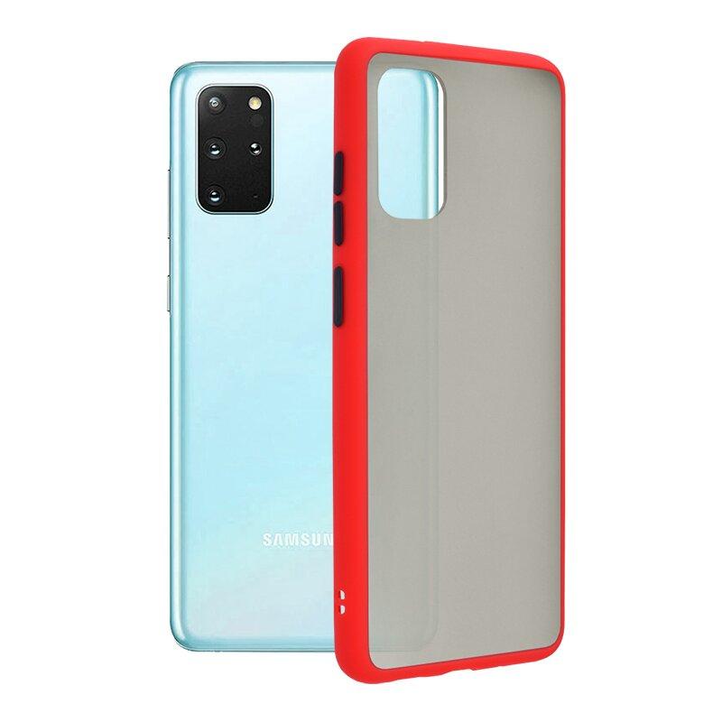 Husa Samsung Galaxy S20 Plus Mobster Chroma Cu Butoane Si Margini Colorate - Rosu