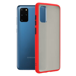 Husa Samsung Galaxy S20 Plus 5G Mobster Chroma Cu Butoane Si Margini Colorate - Rosu