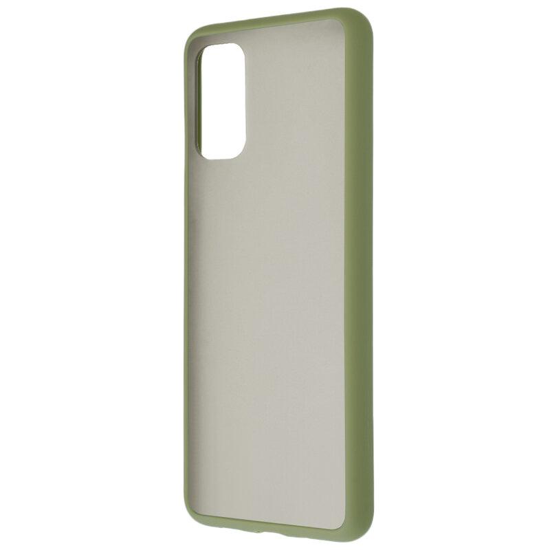 Husa Samsung Galaxy S20 Plus Mobster Chroma Cu Butoane Si Margini Colorate - Verde Deschis