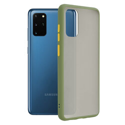 Husa Samsung Galaxy S20 Plus 5G Mobster Chroma Cu Butoane Si Margini Colorate - Verde Deschis