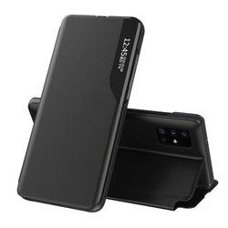 Husa Huawei P30 Eco Leather View Flip Tip Carte - Negru
