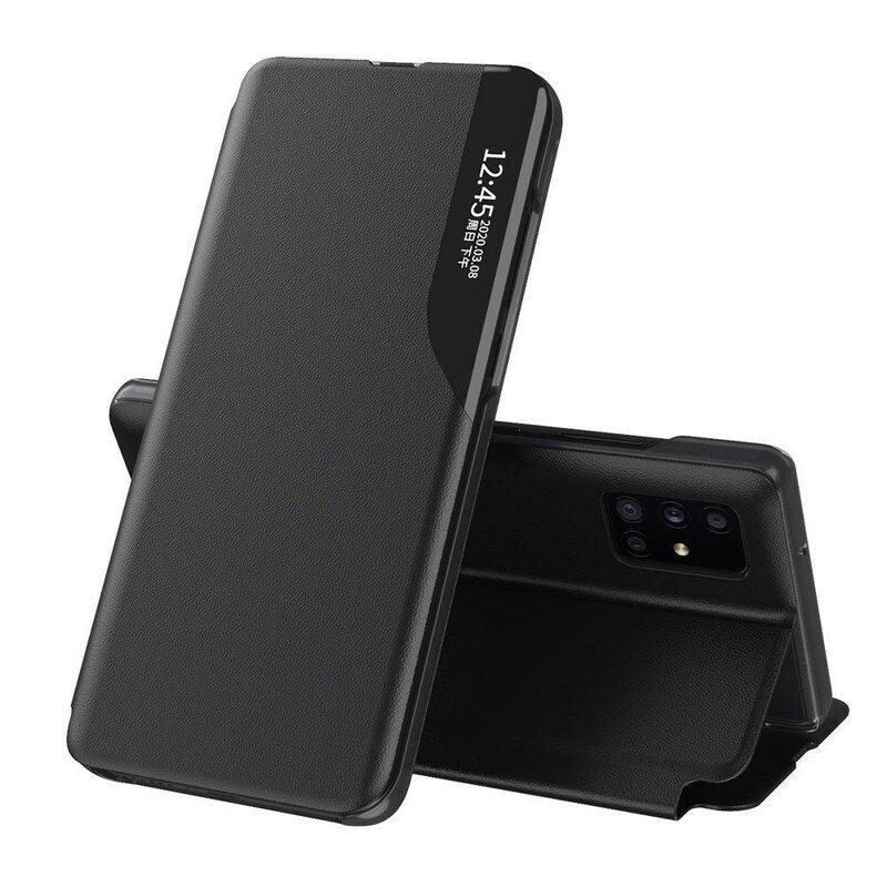 Husa iPhone 11 Pro Eco Leather View Flip Tip Carte - Negru