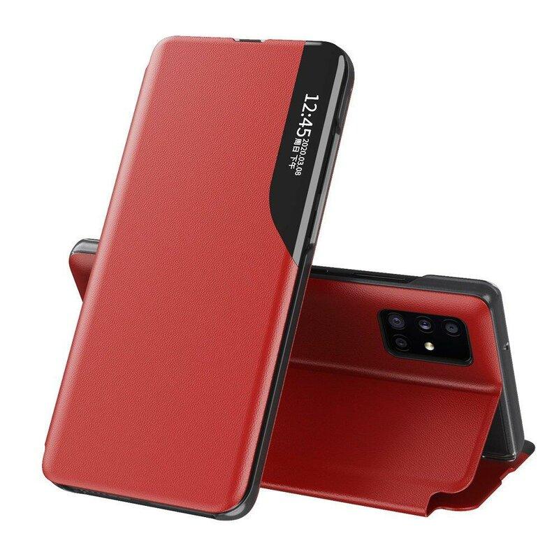 Husa iPhone 11 Pro Eco Leather View Flip Tip Carte - Rosu