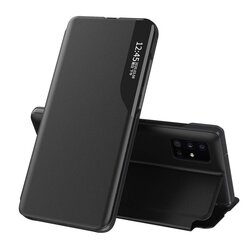 Husa iPhone 11 Pro Max Eco Leather View Flip Tip Carte - Negru