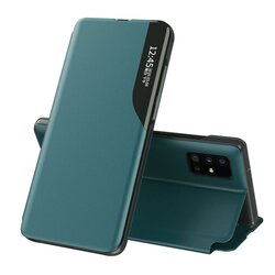 Husa iPhone 11 Pro Max Eco Leather View Flip Tip Carte - Verde