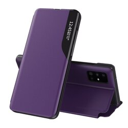 Husa iPhone 12 Pro Eco Leather View Flip Tip Carte - Mov